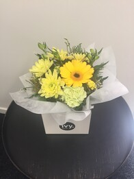 Yellow & White Posy Box