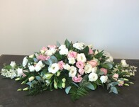 Sympathy - Casket Spray Pink & White