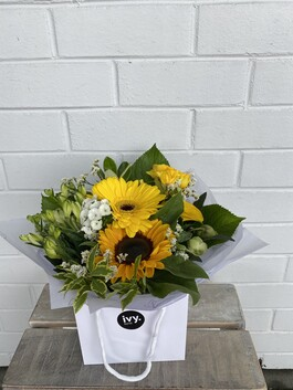 Posy Bag - Yellow & White